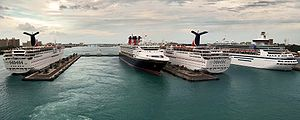 A panoramic view of Prince George Wharf, the f...