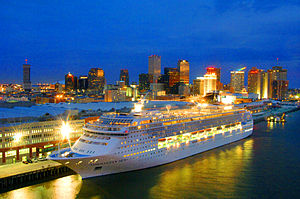 The Port of New Orleans has a cruise line term...