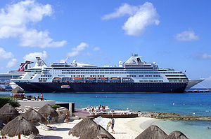 MS Ryndam in Cozumel. Royal Caribbean and Carn...