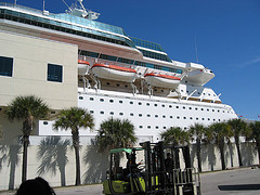 The Cruise Ship In Miami