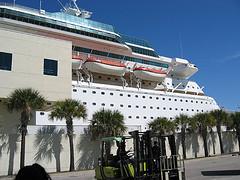 The Cruise Ship In Miami