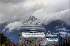 Norwegian Cruise Lines Pearl and Star in Skagway