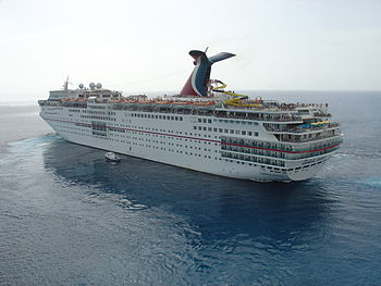 English: Carnival Ecstasy departing Puerta May...